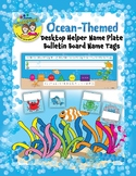 Ocean-Themed Desktop Helper Name Plate and Bulletin Board Name Tags