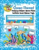 Ocean-Themed Desktop Helper Name Plate and Bulletin Board