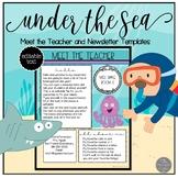 Ocean Themed EDITABLE Meet the Teacher and Newsletter Templates
