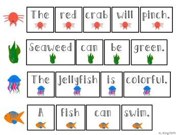 Ocean Themed ELA Sight Word Activities