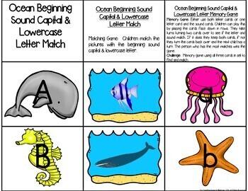 Ocean Theme:  Literacy & Math Centers