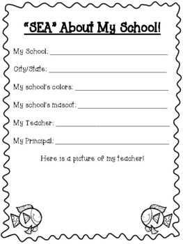 Ocean Themed End of the Year Memory Book!