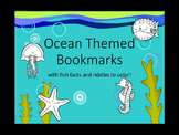 Ocean Themed Facts/Riddles Bookmarks