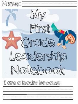 Ocean Themed First Grade Leadership Notebook