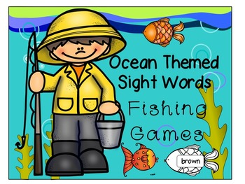 Ocean Themed Fishing Sight Words Game