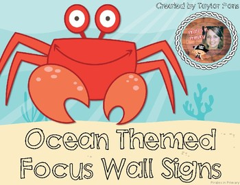 Ocean Themed Focus Wall Signs