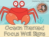 Ocean Themed Focus Wall Signs