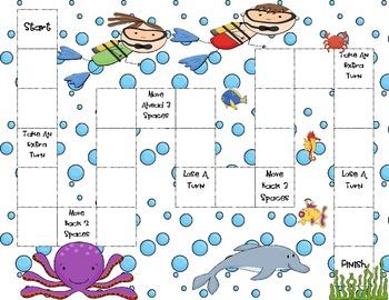 Ocean Themed Game Board