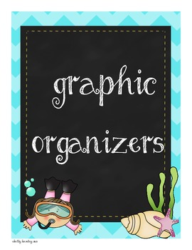 Ocean Themed Graphic Organizers