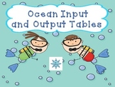 Ocean Themed Input and Output Tables