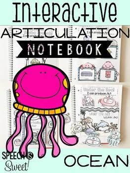 Ocean Themed Interactive Articulation Notebook
