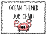 Ocean Themed Job Chart