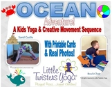 Ocean/Sea Creature Kids Yoga Sequence with Real Photos and