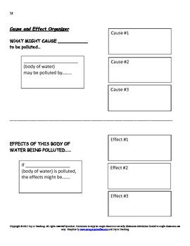 Ocean Theme Language Arts Project for Classwork/Homework