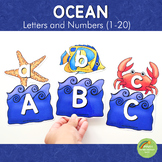 Ocean Themed Letter and Number Cards