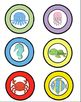 Ocean Themed Literacy Center Signs, Center Rotation Cards & Center Tub Labels
