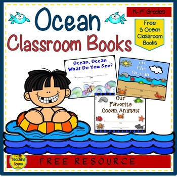 Ocean Themed Student Writing Classroom Books {FREE}
