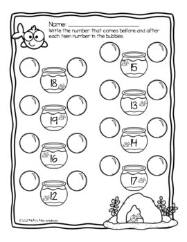 Ocean Themed Math Worksheets - Summer Review Packet!