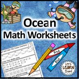 Ocean Math, Ocean Animals Math Worksheets for Ocean Theme or Ocean Unit