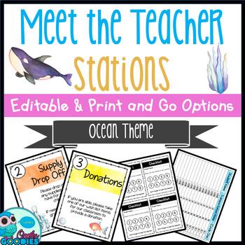 Ocean Themed - Meet the Teacher Night