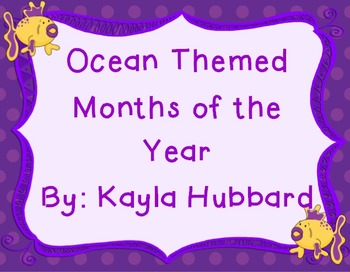 Ocean Themed Months of the Year