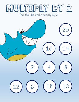 Ocean Themed Multiplication Bump (up to 10 x 10)
