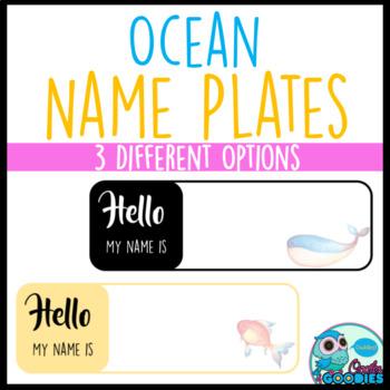 Ocean Themed - Name Plates