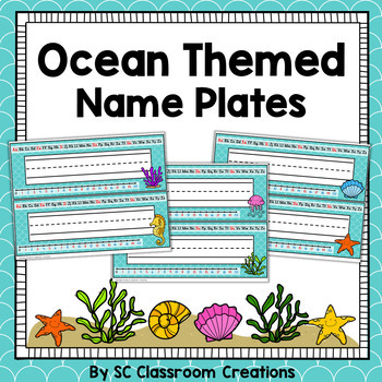 Ocean Themed Name Plates- Classroom Decor