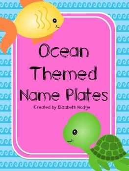Ocean Themed Nameplates