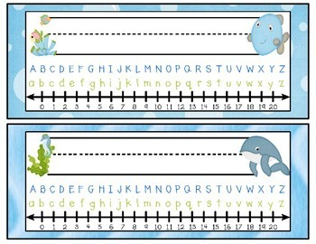 Ocean Themed Nameplates