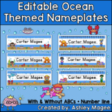 Ocean Themed Editable Name plates / Desk Plates / Name Tags