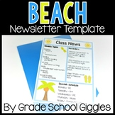 Newsletter Template - Editable Beach Theme