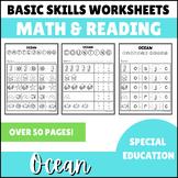 Math Basic Skills Unit for Special Education: Ocean Edition