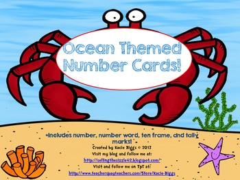 Ocean Themed Number Cards!