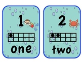 Ocean-Themed Number Cards with Ten Frames