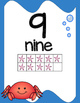 Ocean Themed,  Number Posters, Classroom Decor