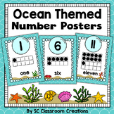 Ocean Themed Number Posters- Classroom Decor