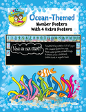 Ocean-Themed Number Posters 1-20 with 4 Extra Posters