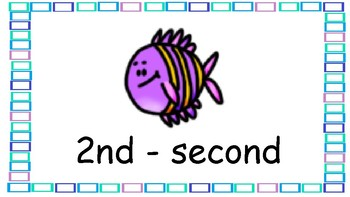 Ocean Themed Ordinal Numbers