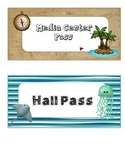 Ocean Themed / Pirate Themed Hall Passes