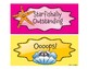 Ocean-Themed Pocket Chart Behavior Cards with Tuna Graphics for Clothespins