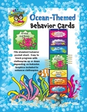 Ocean-Themed Pocket Chart Behavior Cards with Tuna Graphic