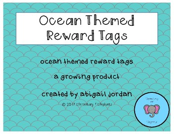 Ocean Themed Praise Brag Tags