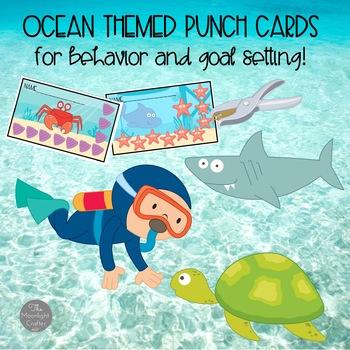 Ocean Themed Punch Cards for Behavior Management