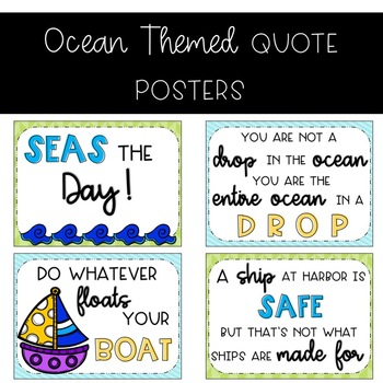 Ocean Themed Quote Posters