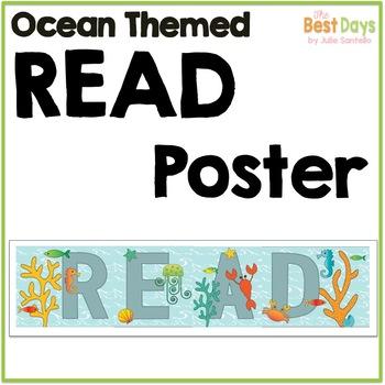 Ocean Themed READ Poster
