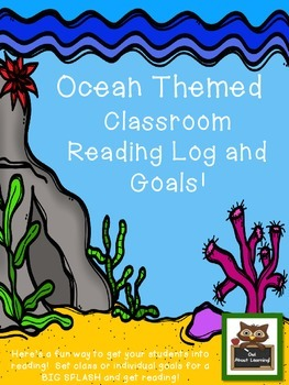 Ocean Themed Reading Log for Classroom and/or Home!