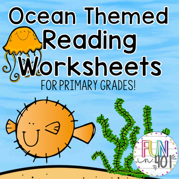 Common Core: Ocean Themed Reading and Writing Worksheets