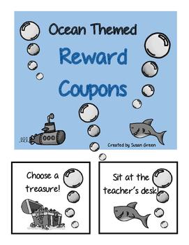 Ocean Themed Reward Coupons