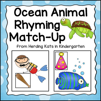 Ocean Themed Rhyming Match-Up